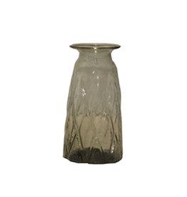 Small smoke glass vase