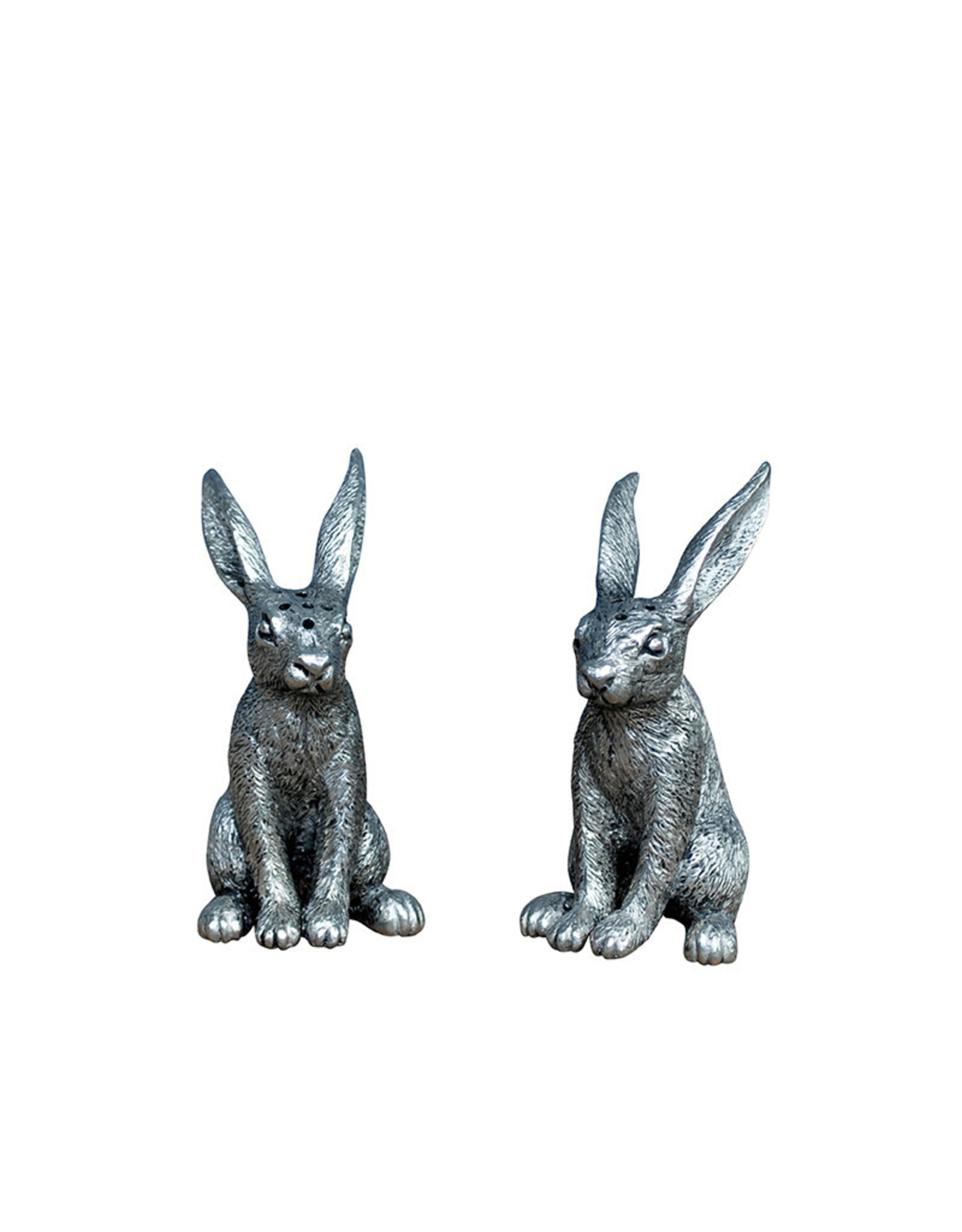 Rabbit pair salt and pepper shaker set