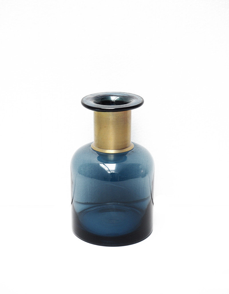 Blue bottle with gold detail