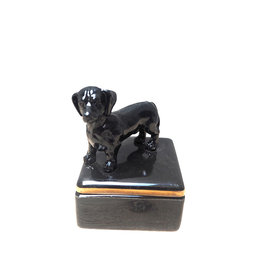 Mini box with black dog