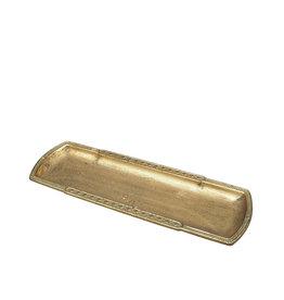 Tray golden patina