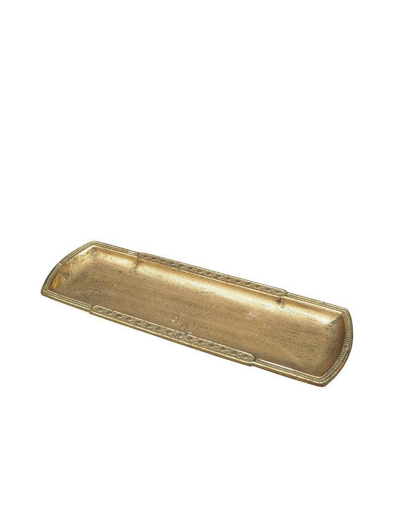 Narrow tray golden patina