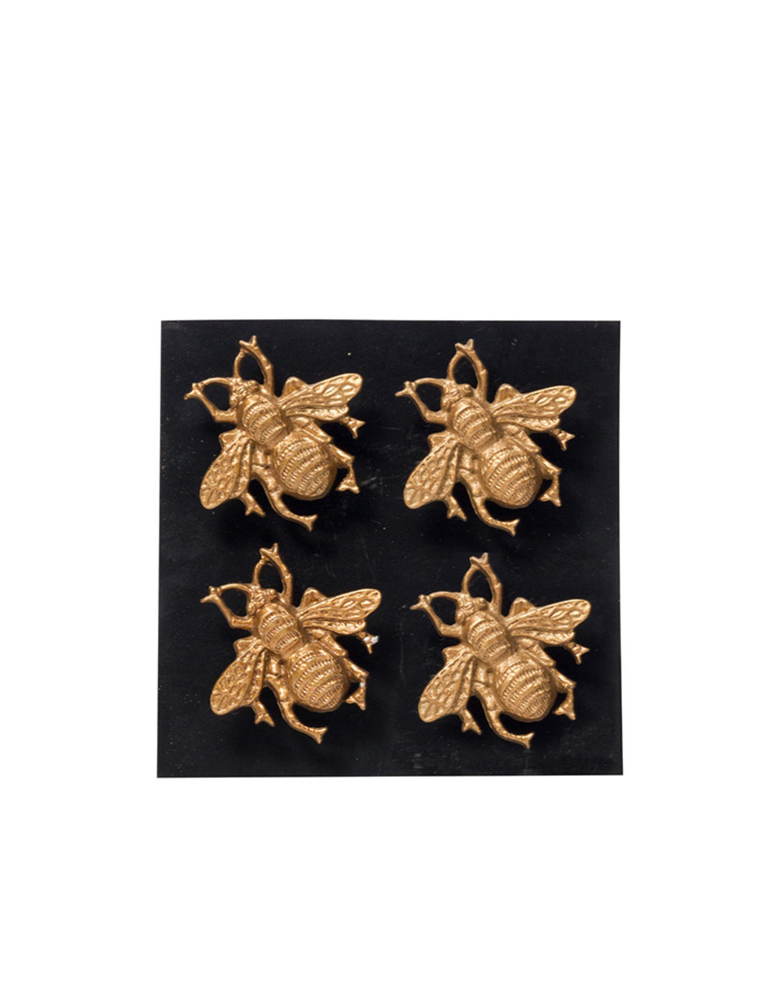 Set of four bee magnets