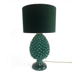 Agata Emerald green pinecone lamp base
