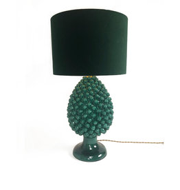 Agata Treasures Emerald green pinecone lamp base