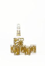 Vintage 19th century Baccarat liquor service