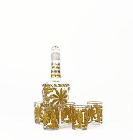 Vintage 19th century liquor service