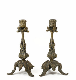 Vintage pair of candle holders