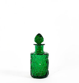 Vintage green glass bottle- small