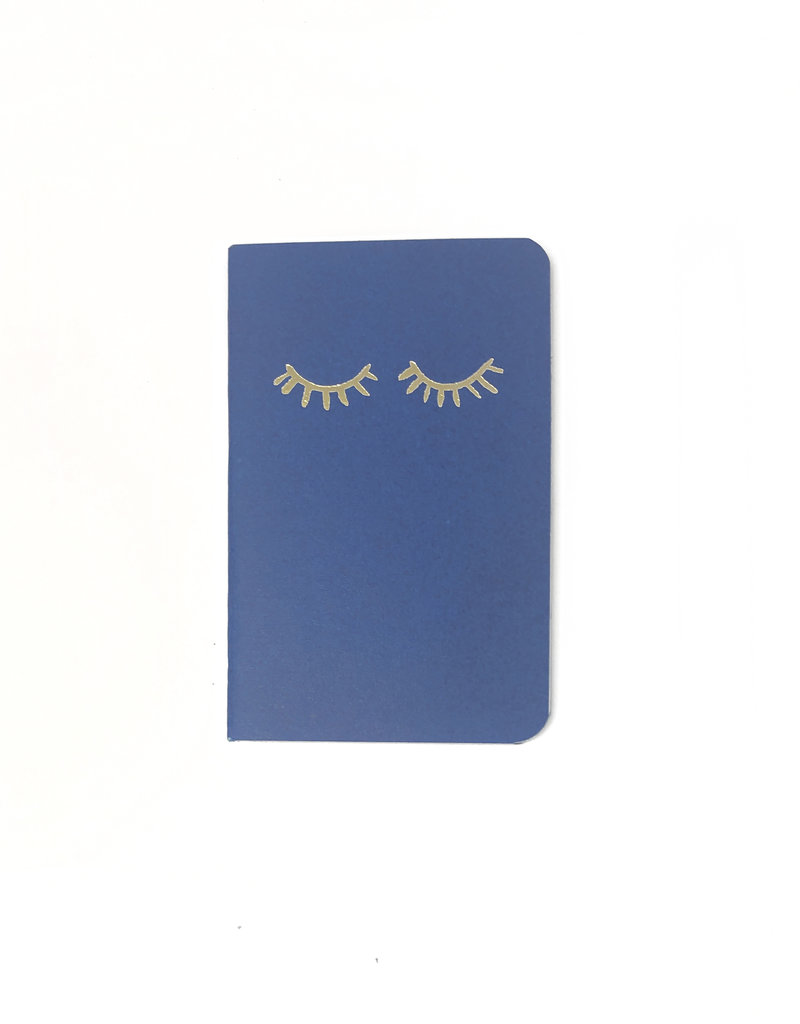 Soft Cover Notebook 9x14 cm, Eyelash classic blue