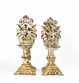Vintage Lion candle holders