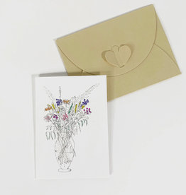 Marlies Boomsma Gift card with flowers
