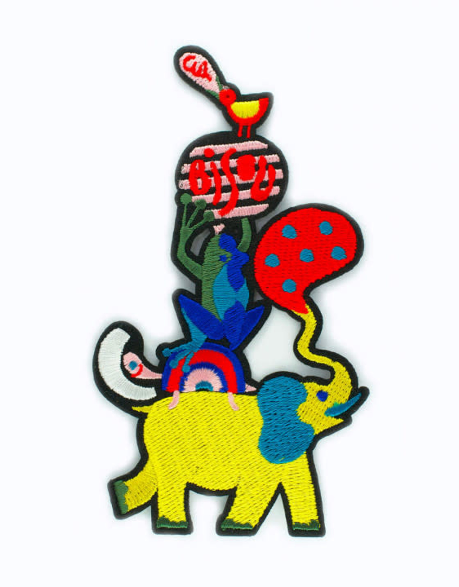 Macon&Lesquoy Patch - Large patch animal pyramid