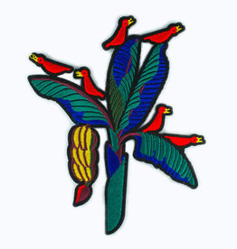 Macon & Lesquoy Patch - large patch banana  tree and birds