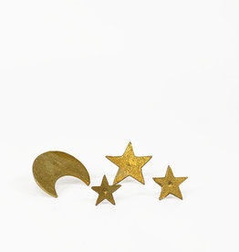 Boncoeurs Set of moon and stars wall pins