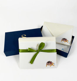 Stationery Stories Monogrammed stationery set - Turtle
