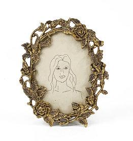 Vintage bronze photo frame