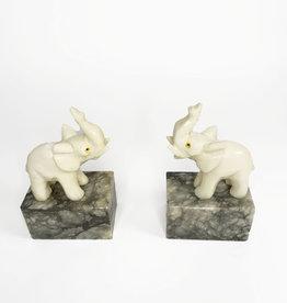 Vintage elephant bookends