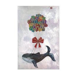 Marlies Boomsma Print flying whale