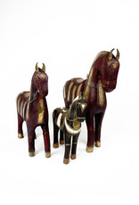 Vintage decorative wooden horse from Italy