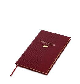 Sloane Stationery Don't forget - pocket notebook - dark red