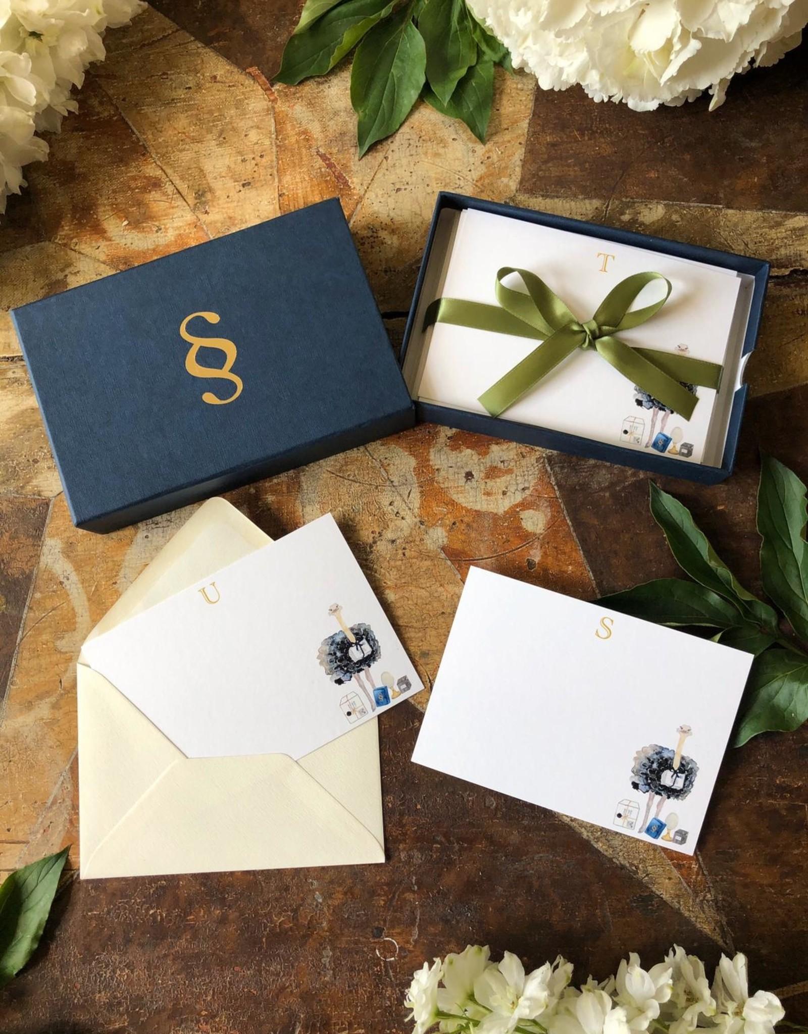 Stationery Stories Monogrammed stationery set - Ostrich