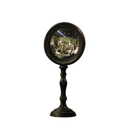Convex mirror on high stand