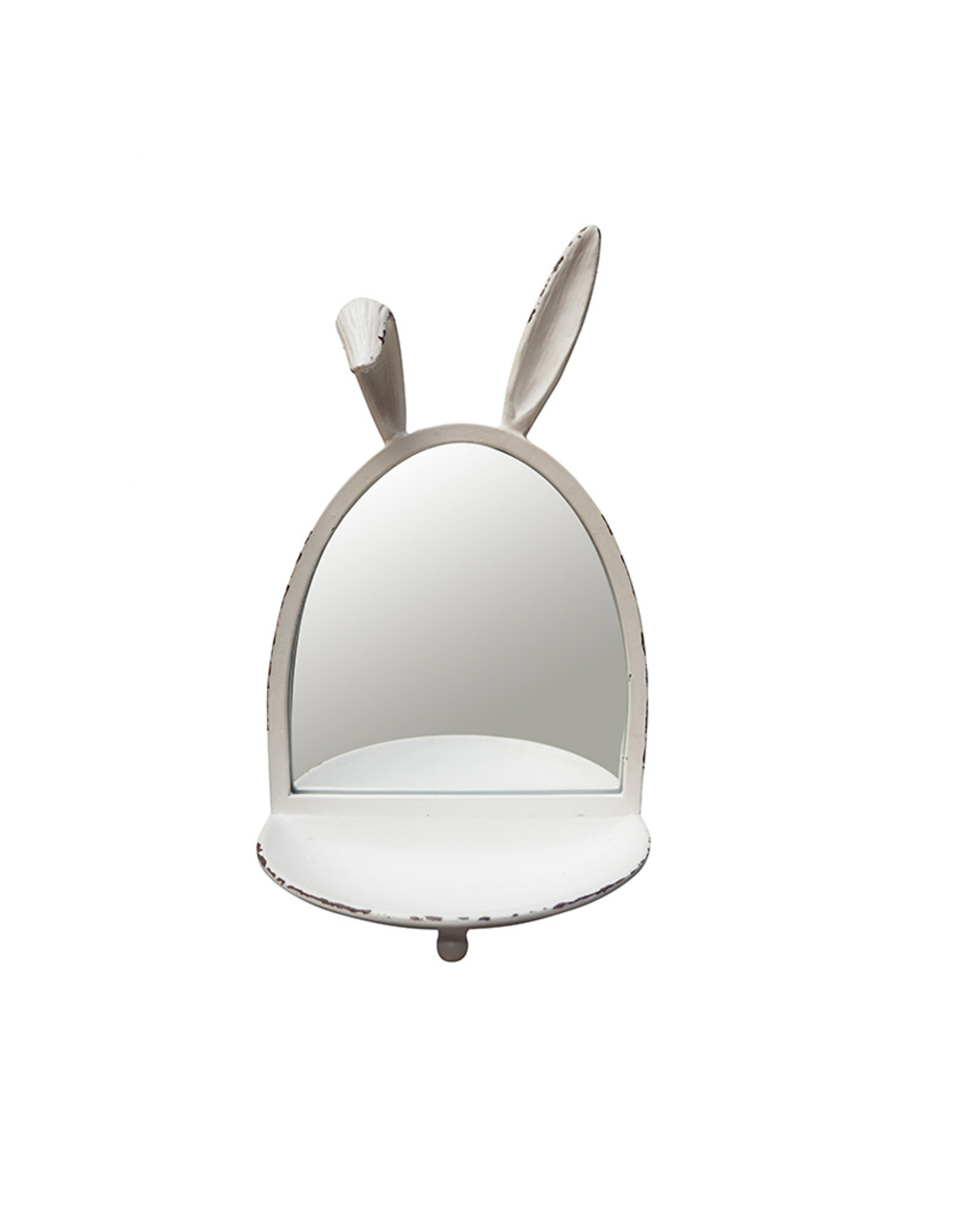 Hanging bunny mirror with tray