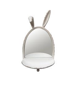 Hanging bunny mirror