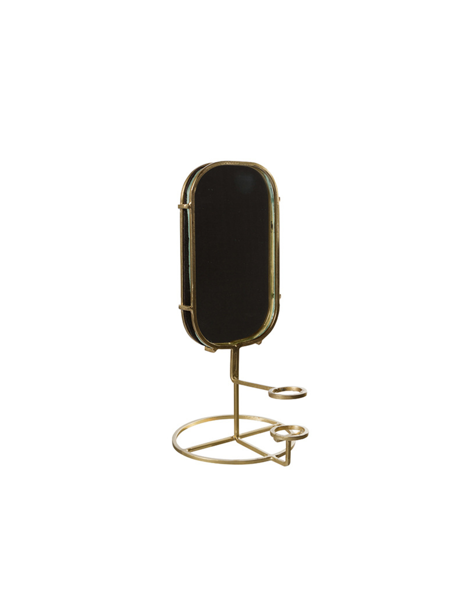 Metal candle stand with mirror
