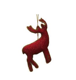 Red deer beaded ornament
