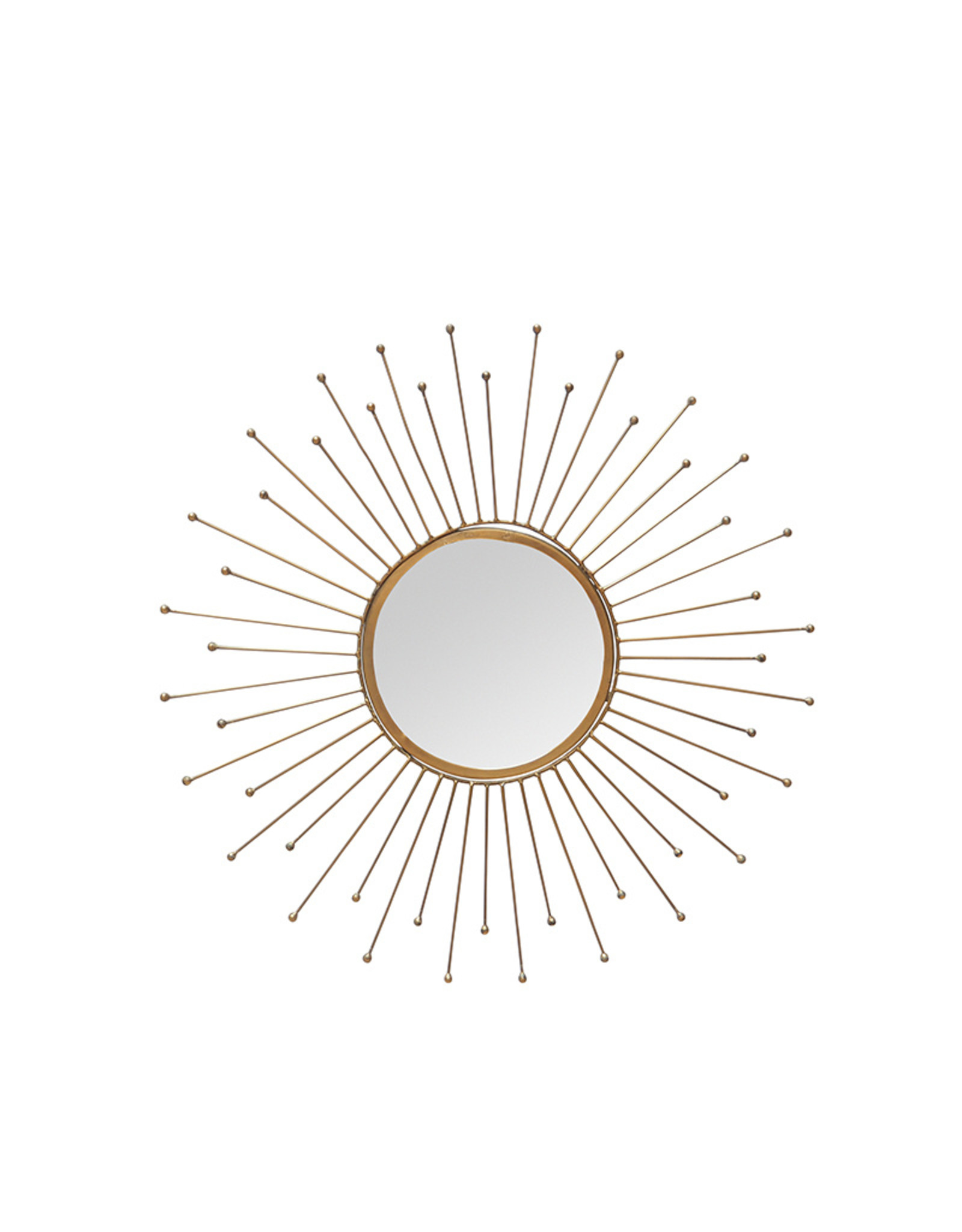 Brass finish sun mirror