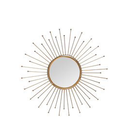 Brass finish sun mirror