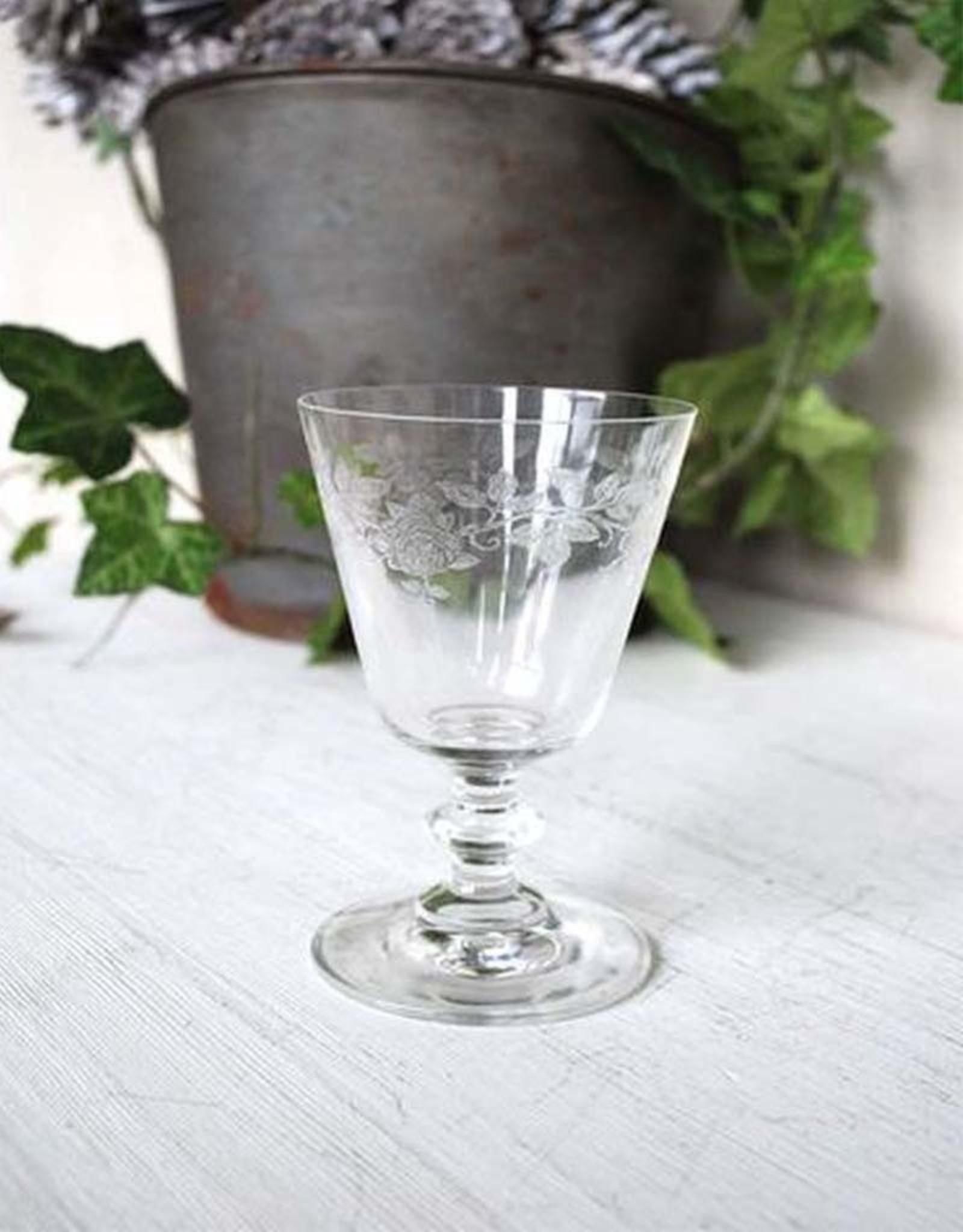 "Wine glass ""Roses"""