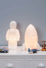 Rocket table lamp biscuit porcelain