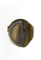 Marieke Ariëns Interior Objects Single agate gold rimmed coaster