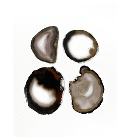 Marieke Ariëns Interior Objects Atelier - Set of four agate silver rimmed casters 10 x 10 cm IV