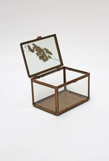 Small glass box with picture frame cover