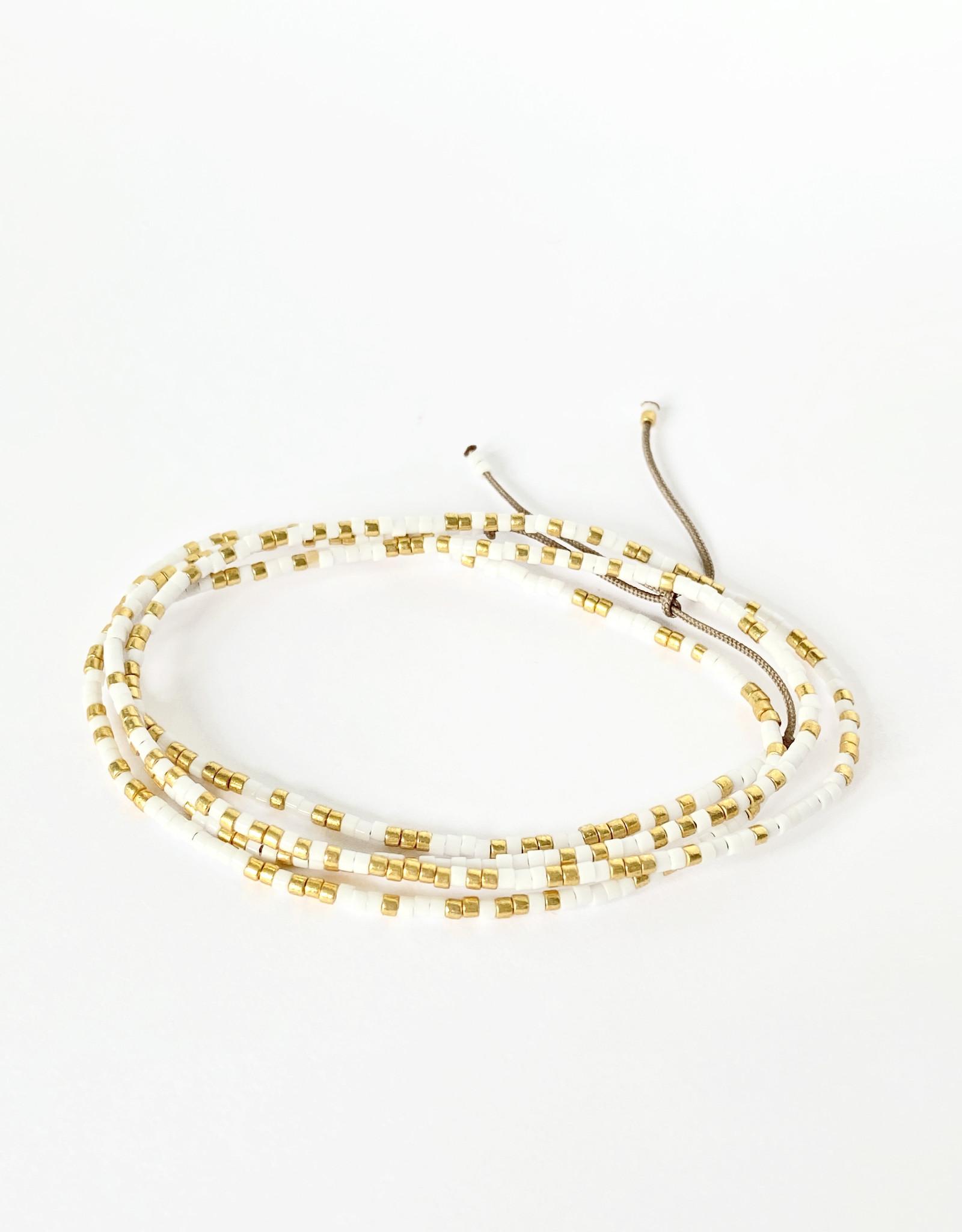 Sabelline Skinny Bracelet  - White Glossy