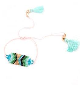 Noi Blue beaded diamond bracelet