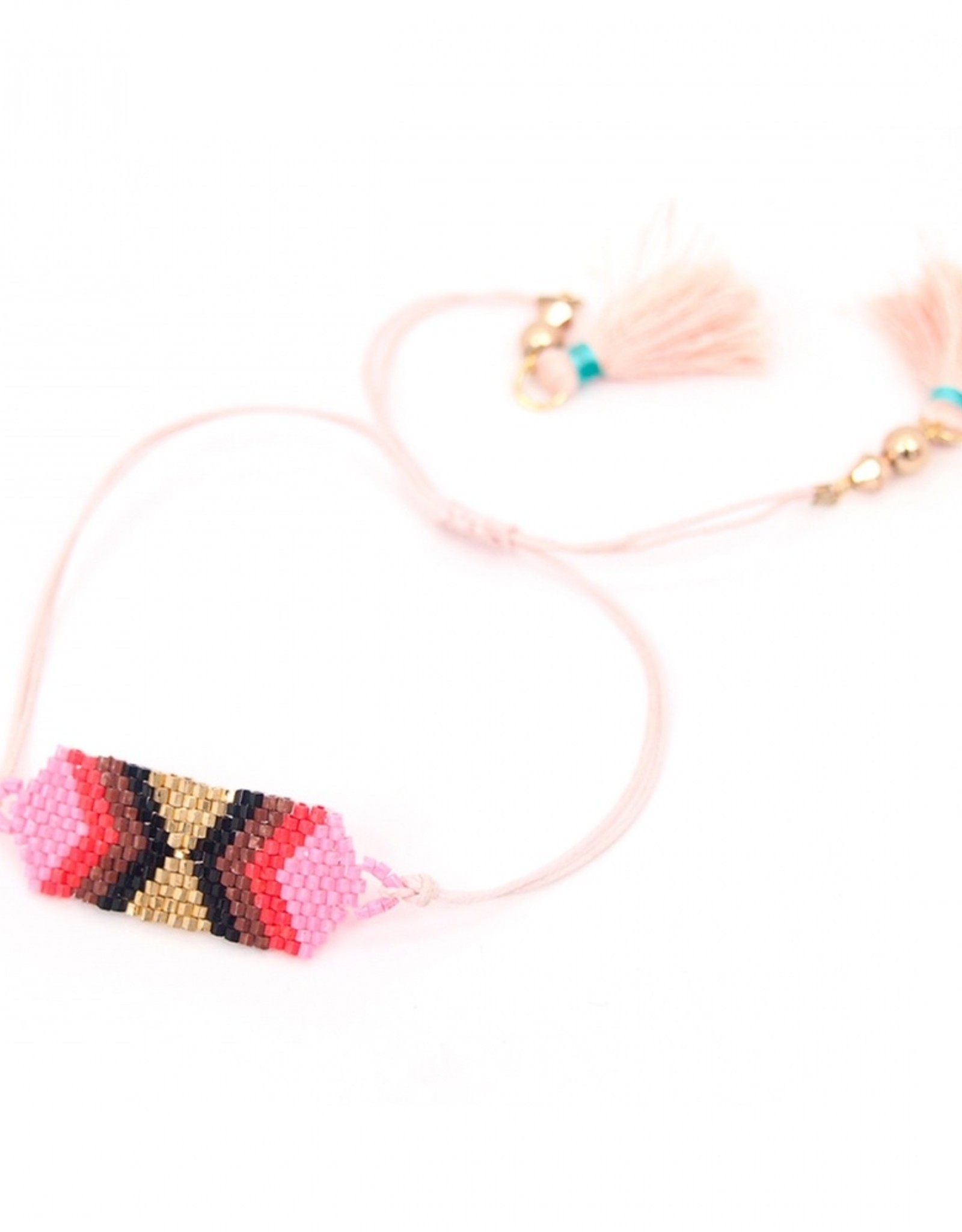 Berry beaded diamond bracelet