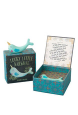 Narwhal lucky charm in a box