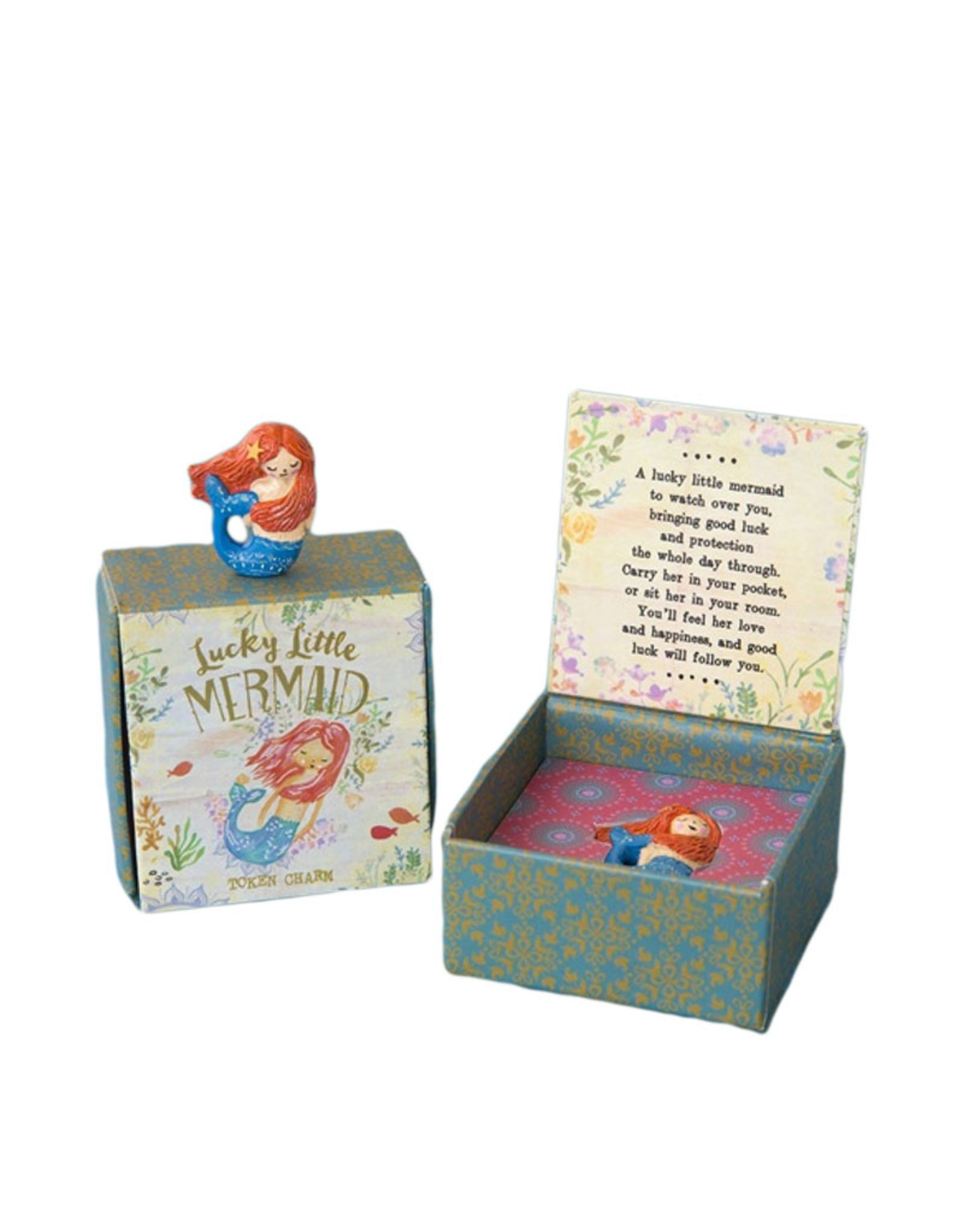 Mermaid lucky charm in a gift box