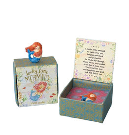 Noi Mermaid lucky charm in a gift box