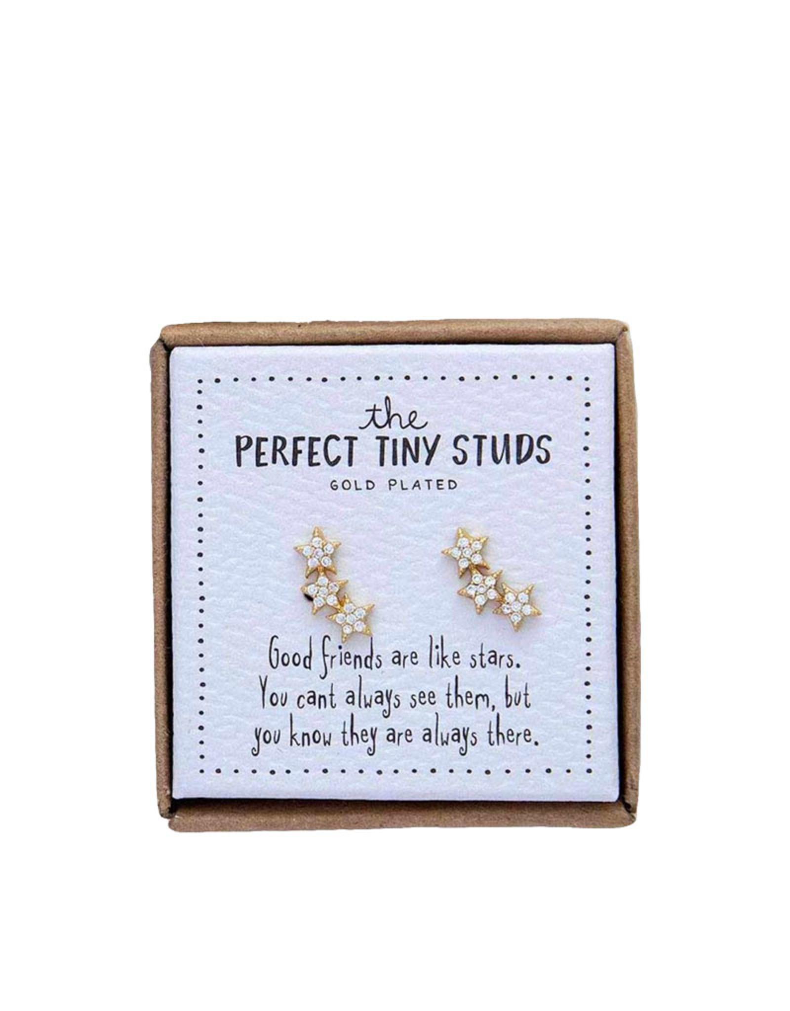 Noi Three tiny stars studs earrings - gold plated