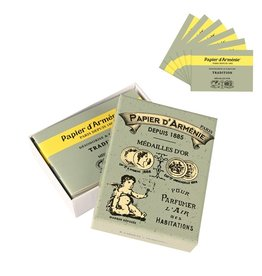 Papier d'Armenie Traditional incense paper vintage box, pack of 6 booklets