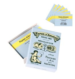 Papier d'Armenie Papier d'Armenie incense paper vintage box, pack of 6 booklets