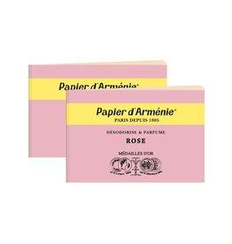 Papier d'Armenie Rose incense paper, 2 booklets