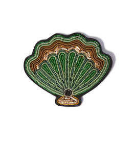Macon & Lesquoy Scallop shell brooch