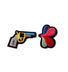 Macon & Lesquoy Two patches - Gun and Flower